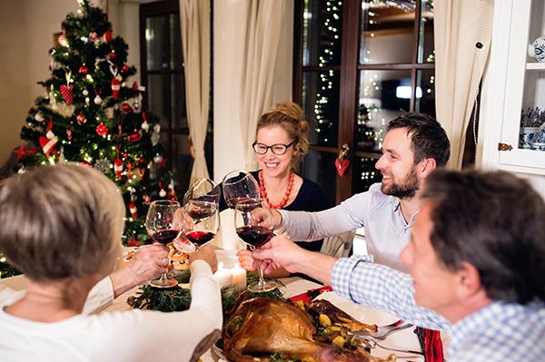 Cena de Navidad en familia, el encinar