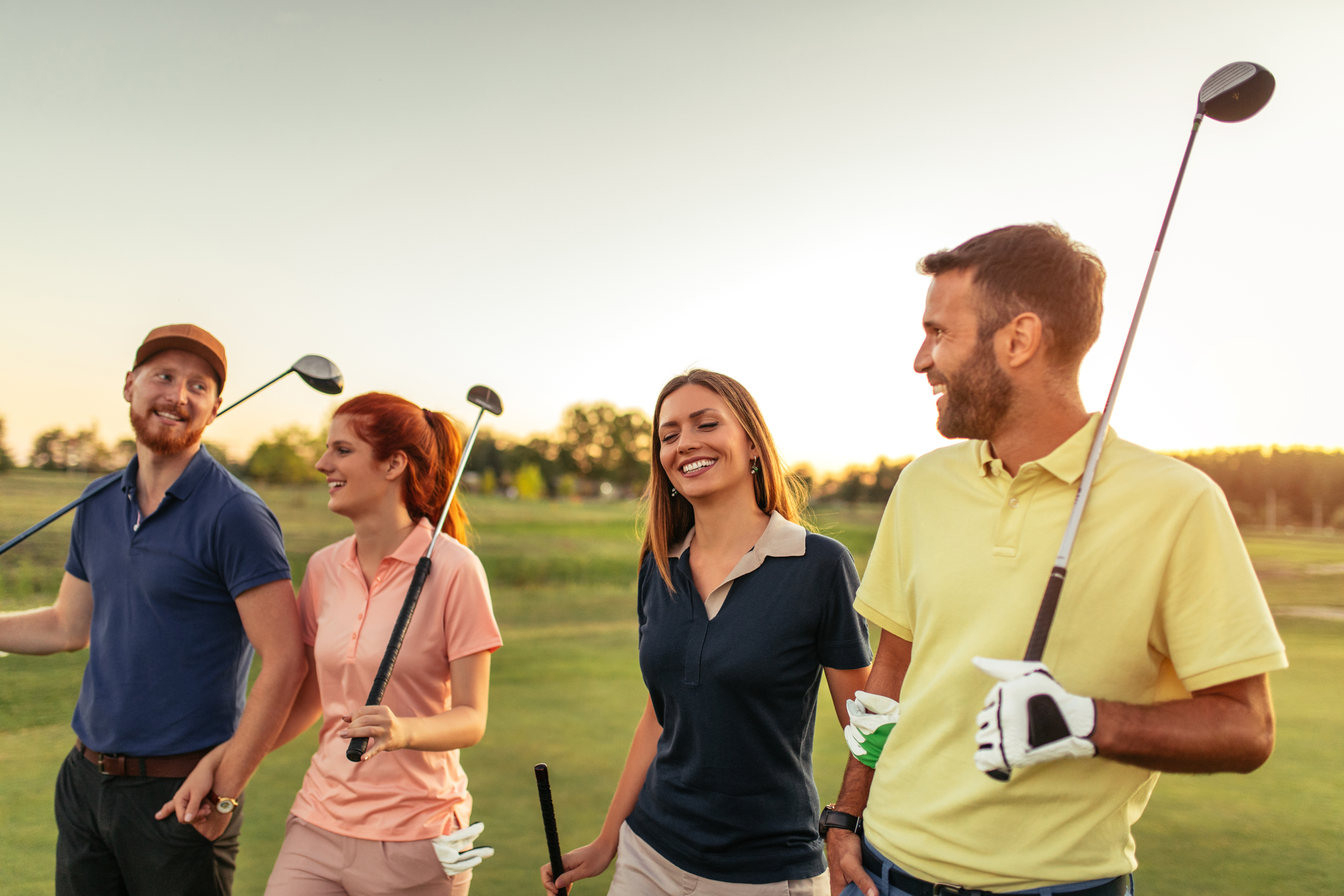Golf con amigos