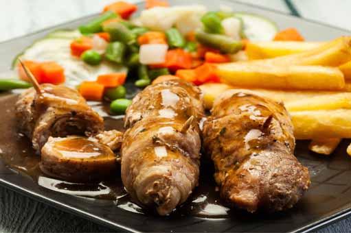 rollitos de carne en salsa